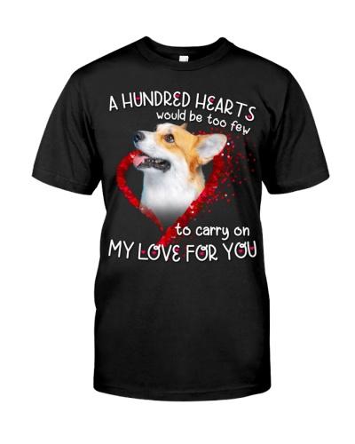 Pembroke Welsh Corgi-Hundred Hearts