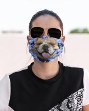 English Bulldog-Blue Mask Cloth face mask aos-face-mask-lifestyle-02