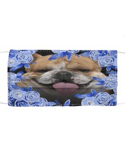 English Bulldog-Blue Mask Cloth face mask front