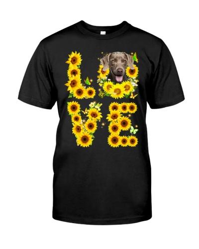 Weimaraner-Love Sunflower