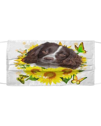 English Springer Spaniel-Face Mask-Sunflower