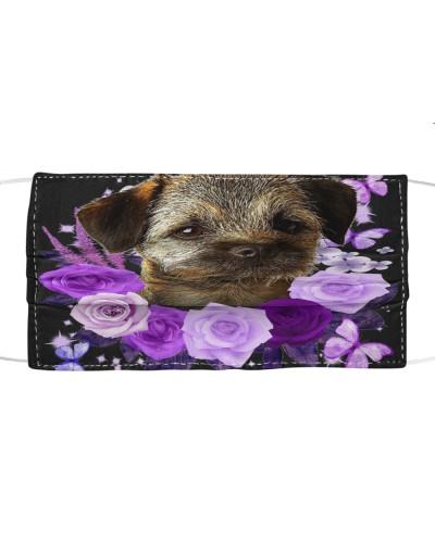 Border Terrier-Face Mask-Purple