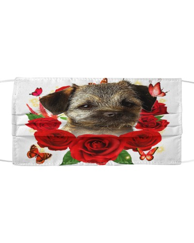 Border Terrier-Face Mask-Rose