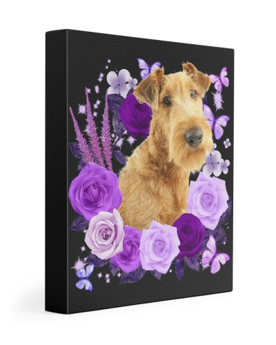 Irish Terrier-Canvas Purple