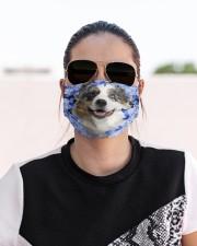 Australian Shepherd-02-Blue Mask Cloth face mask aos-face-mask-lifestyle-02