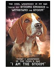 Beagle - Storm 24x36 Poster front