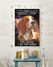 Beagle - Storm 24x36 Poster lifestyle-holiday-poster-3