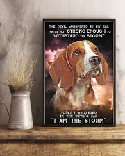 Beagle - Storm 24x36 Poster lifestyle-poster-3