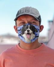 Border Collie-Blue Mask Cloth face mask aos-face-mask-lifestyle-06