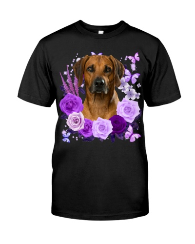Rhodesian Ridgeback-Purple Flower