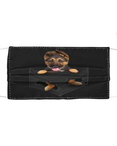 German Shepherd-Face Mask-Pocket