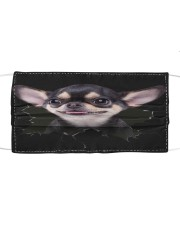 Chihuahua-Hole Crack Cloth face mask front