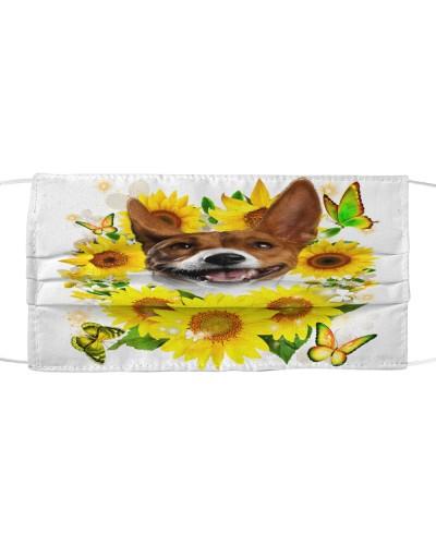 Basenji-Face Mask-Sunflower