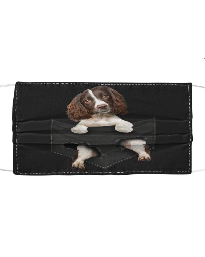 English Springer Spaniel-Face Mask-Pocket