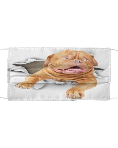 Dogue De Bordeaux-Face Mask-Torn02