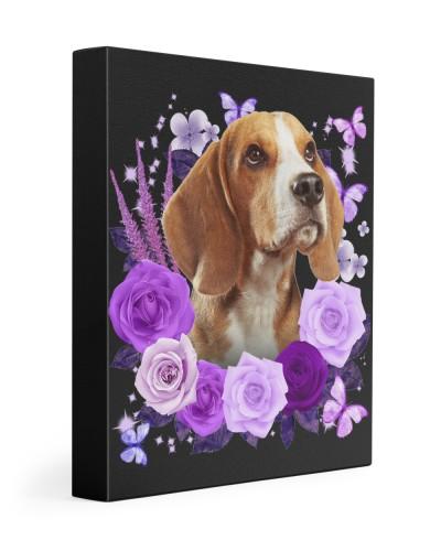 Beagle-Canvas Purple
