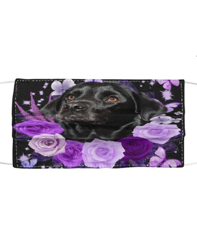 Labrador-Black02-Face Mask-Purple