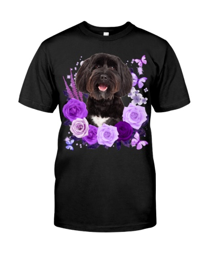 Tibetan Terrier-02-Purple Flower