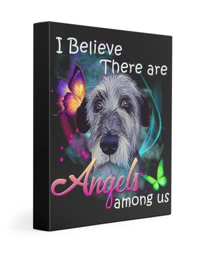Irish Wolfhound-Art-Canvas Angels
