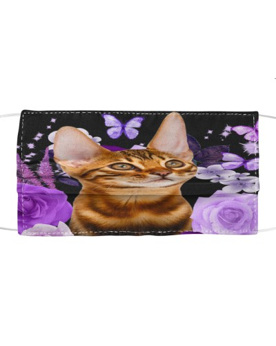 Bengal Cat-Face Mask-Purple