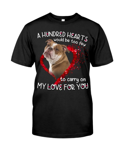 English Bulldog-Hundred Hearts