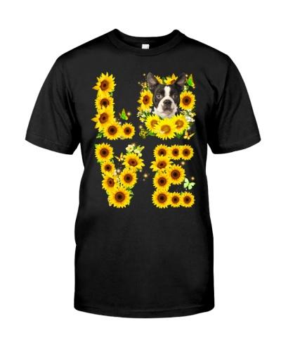 Boston Terrier-02-Love Sunflower