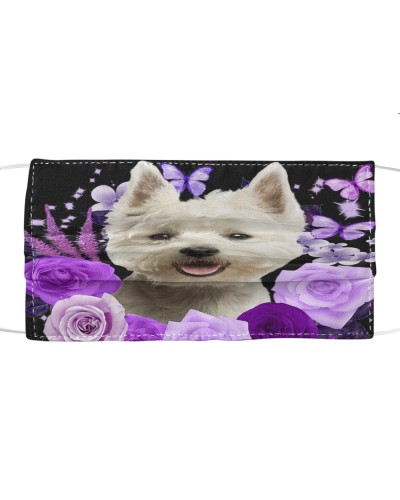 West Highland White Terrier-Face Mask-Purple