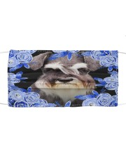 Schnauzer-Blue Mask Cloth face mask front