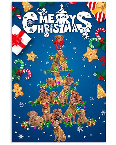 Dogue de Bordeaux-Merry Christmas