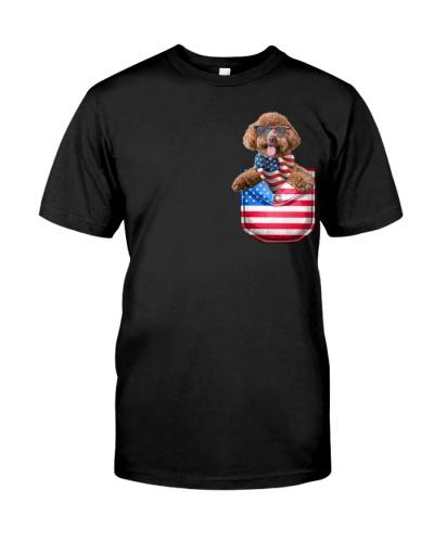 Poodle-Flag Pocket
