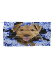 Airedale Terrier-Blue Mask Cloth face mask front