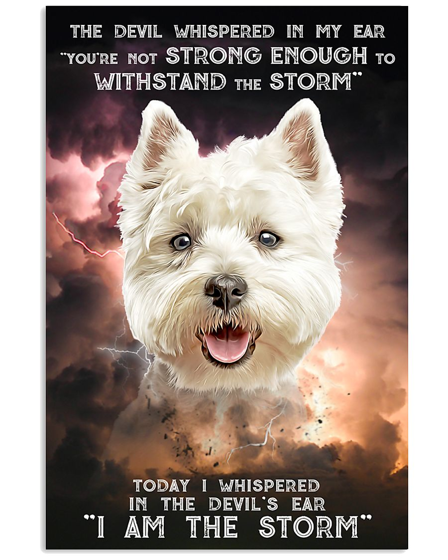 West Highland White Terrier - Storm 24x36 Poster