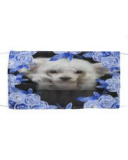 Chinese Crested-Blue Mask Cloth face mask front