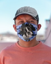 Boston Terrier-Blue Mask Cloth face mask aos-face-mask-lifestyle-06