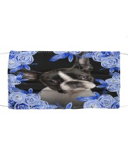 Boston Terrier-Blue Mask Cloth face mask front