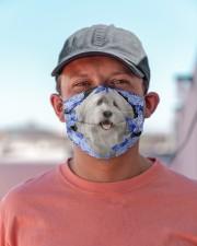 Old English Sheepdog-Blue Mask Cloth face mask aos-face-mask-lifestyle-06