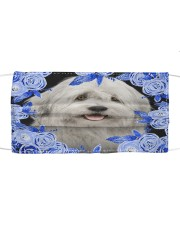 Old English Sheepdog-Blue Mask Cloth face mask front