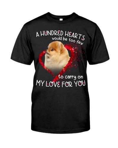 Pomeranian-Hundred Hearts