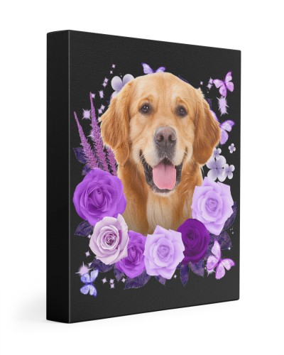 Golden Retriever-Canvas Purple