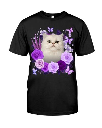 Persian Cat-03-Purple Flower