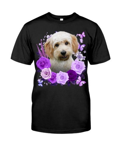 Cavachon-Purple Flower