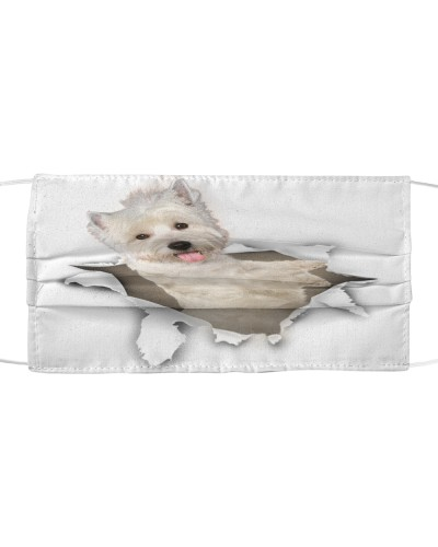 West Highland White Terrier-Face Mask-Torn02