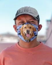 Golden Retriever-Blue Mask Cloth face mask aos-face-mask-lifestyle-06