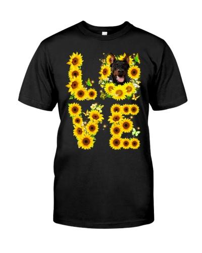 Doberman-Love Sunflower