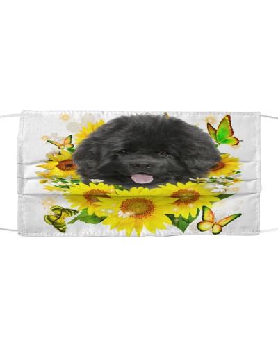 Newfoundland-Face Mask-Sunflower
