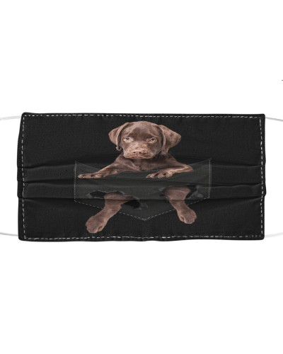 Labrador-Chocolate-Face Mask-Pocket