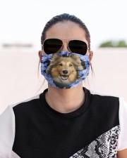 Shetland Sheepdog-Blue Mask Cloth face mask aos-face-mask-lifestyle-02