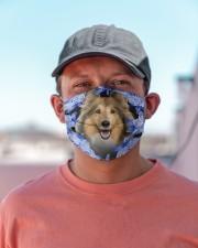 Shetland Sheepdog-Blue Mask Cloth face mask aos-face-mask-lifestyle-06