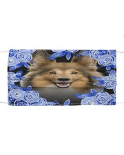 Shetland Sheepdog-Blue Mask Cloth face mask front