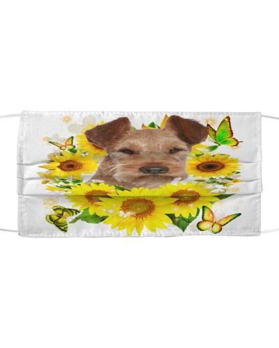 Irish Terrier-Face Mask-Sunflower